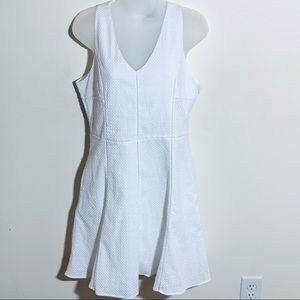 Greylin white dress with cutout in the back